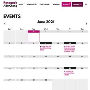 Google Calendar integration by Chicago Wordpress developer erica dreisbach.