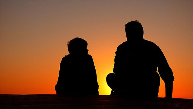 Pictured: a father and child in silhouette against the sunset, exuding the warm instructive vibe I'm going for with this advice. Image credit: https://pixabay.com/photos/silhouettes-father-and-son-sunset-1082129/