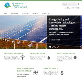 Homepage for Government Energy Management Award-winning Wordpress development by freelance Chicago web developer erica dreisbach