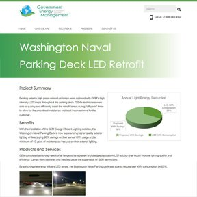 Project page for Government Energy Management. Award-winning Wordpress design and development by freelance Chicago web developer erica dreisbach.