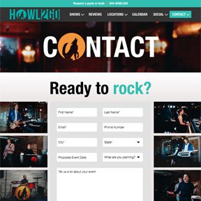 Contact form for Howl2GO | Gravity forms integration by Chicago Wordpress developer