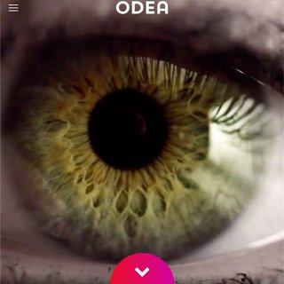 ODEA homepage HTML5 video - eye wide open