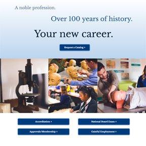 homepage screenshot of Worsham.edu   custom Wordpress development by erica dreisbach